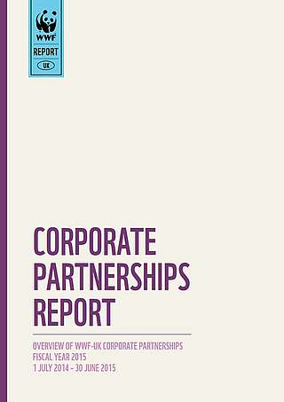 WWF-UK Corporate Partnerships Report Cover 2015